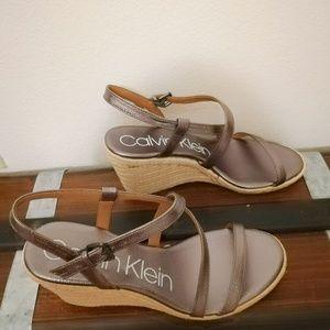 0bbfa433f2d11 Calvin Klein Shoes - 💖Calvin Klein Bellemine Espadrille Wedge Sandal